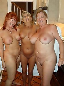 Astonishing mature babes having fun