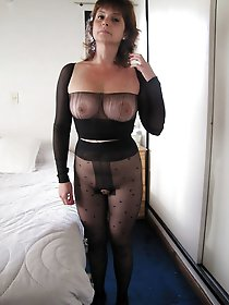 Pretty mature girls in fishnets