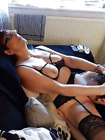 Dissolute experienced lass playing with her pussy